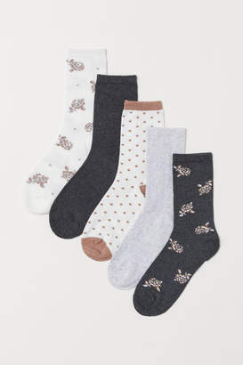 H&M 5-pack Socks - White