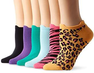 Hue Women's Cotton Liner No-Show Sock 6-Pack