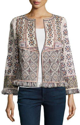 Calypso St. Barth Bernati Embroidered Fringed Jacket