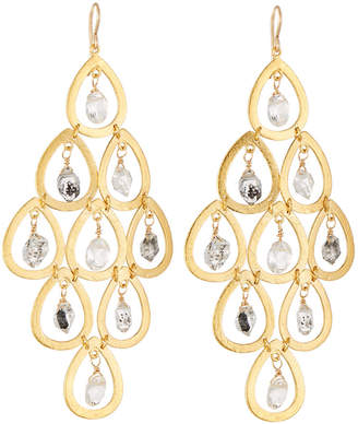 Devon Leigh Quartz & Moonstone Chandelier Earrings