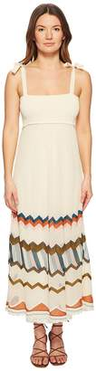 RED Valentino Multicolor Chevron Intarsia Knit Dress Women's Dress