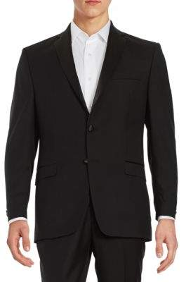 Lauren Ralph Lauren Wool Two-Button Tuxedo Jacket
