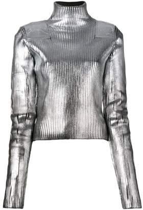 MM6 MAISON MARGIELA metallic turtleneck sweater