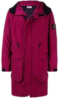 Stone Island hooded midi coat