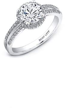 Bony Levy Split Pave Diamond Band Engagement Ring Setting