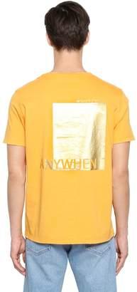 Valentino Anywhen Metallic Printed Jersey T-Shirt