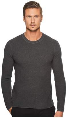 Original Penguin Long Sleeve Waffle Stitch Crew Sweater Men's Sweater