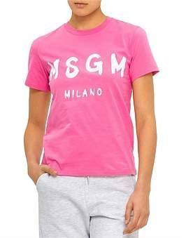 MSGM Classic Logo T-Shirt Co