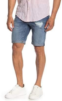 Levi's 511(TM) Slim Fit Cut Off Denim Shorts (Coho Creek Destruction)