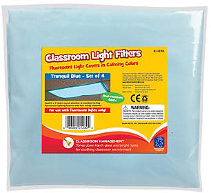 Educational Insights Fluorescent Light Filters, Set of 4