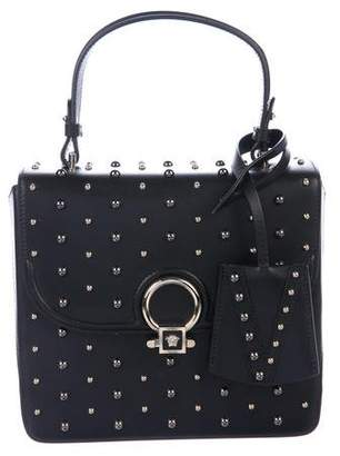 Versace Stud Embellished Leather Satchel w/ Tags