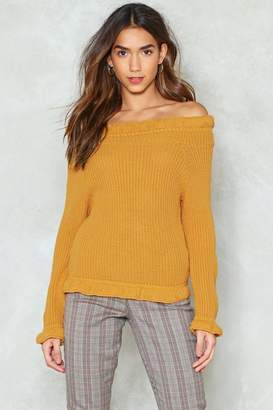 Nasty Gal Take Knit From Me Off-the-Shoulder Sweater