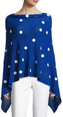 Minnie Rose Embroidered Flower Poncho $275 thestylecure.com