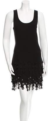 Paco Rabanne Grommet-Accented Shift Dress w/ Tags