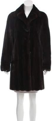 Pologeorgis Knee-Length Mink Fur Coat