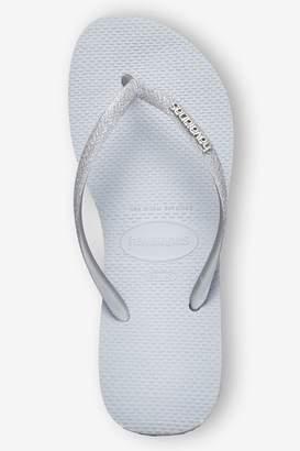 Havaianas Womens Multi Glitter Slim Flip Flop - Grey