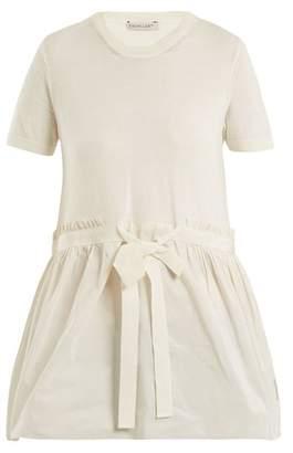 Moncler Crew-neck tie-waist cotton top