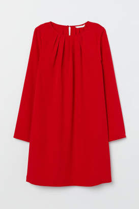 H&M Long-sleeved Dress - Red