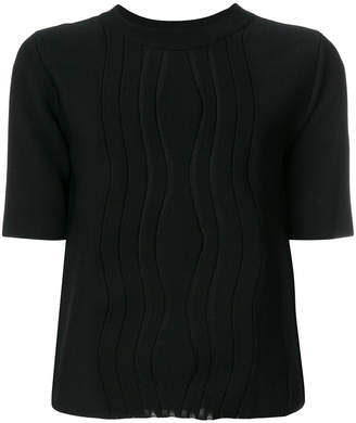 Carven panelled short sleeve top