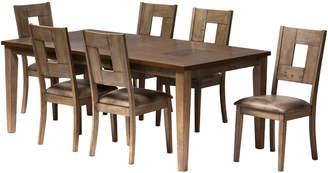 Baxton Studios Gillian Shabby Chic 7Pc Extendable Dining Set