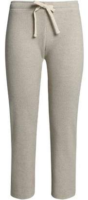 Monrow Cropped Ribbed Supima Cotton And Modal-Blend Track Pants