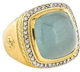 David Yurman 18K Albion Aquamarine & Diamond Ring