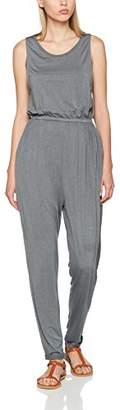 Khujo Women's NECY Basic Stretch Pants Jumpsuit, (Washed Dark-Grey J31)
