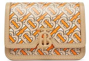 Burberry Tb Print Leather Belt Bag - Womens - Orange Multi