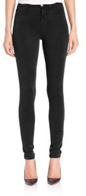J Brand Maria Luxe Sateen High-Rise Skinny Jeans