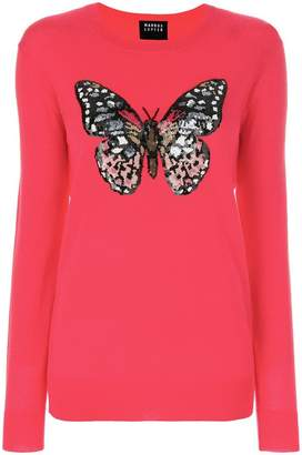 Markus Lupfer butterfly sequin sweater