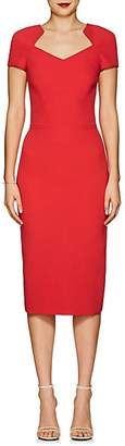 Zac Posen Women's Bonded Crepe Fitted Sheath Dress - Red