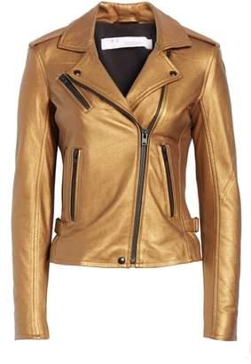 IRO New Han Metallic Leather Jacket