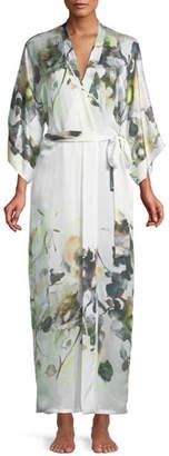 Christine Designs Limelight Long Silk Robe