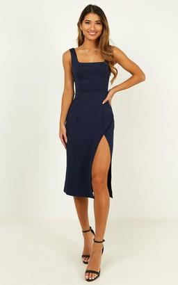 Showpo Mini Love Dress in navy - 6 (XS) Curve & Plus Size