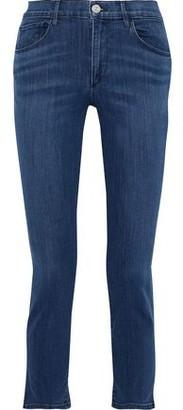 3x1 Luna Cropped High-rise Slim-leg Jeans