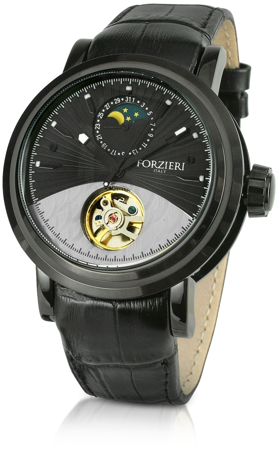 Forzieri Apollo - Men's Black Dial Automatic Mechanical Dress Watch