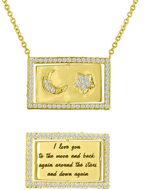 Eden Presley 14k Gold Moon & Back Flip Necklace