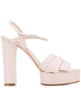 Casadei draped platform sandals