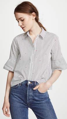 Scotch & Soda/Maison Scotch Flare Sleeve Button Down Shirt