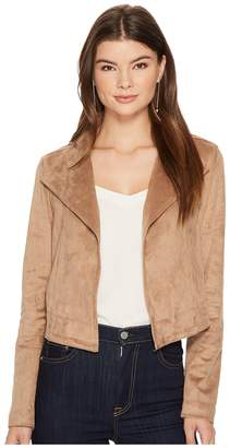 1 STATE 1.STATE Cropped Suede Jacket Women's Coat