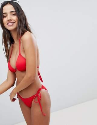 boohoo Mix & Match Ribbed Strap Side Bikini Brief