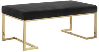 Picket House Furnishings Clay Upholstered Bench with Gold Metallic Legs
