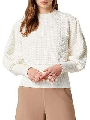 French Connection Mozart Popcorn Balloon-Sleeve Sweater
