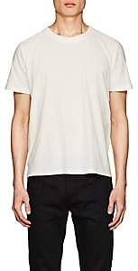 Saint Laurent Men's Logo Cotton Jersey T-Shirt - Ivorybone