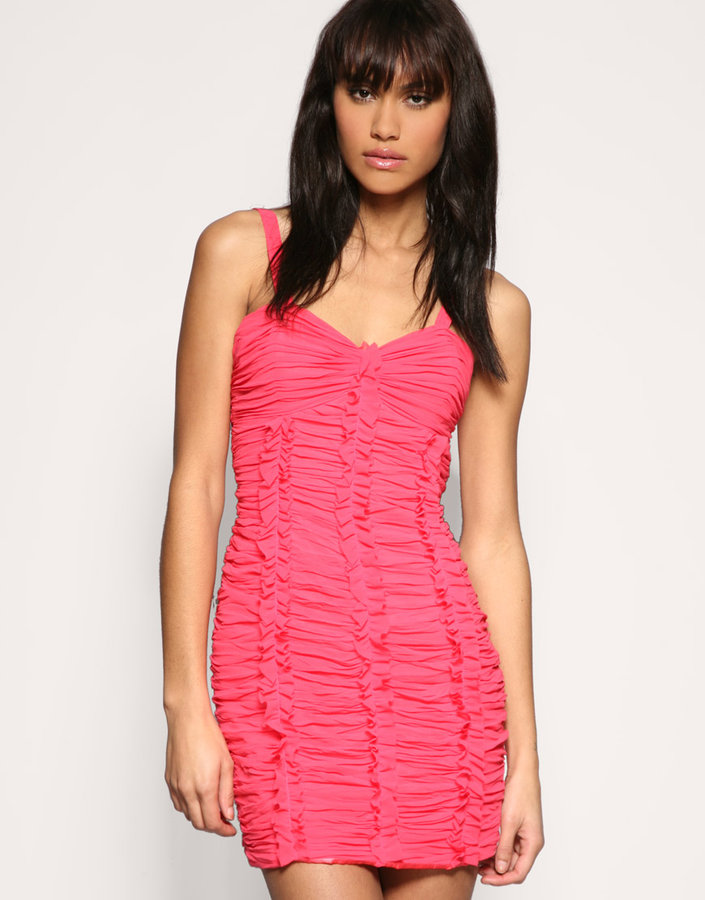 Lipsy Gathered Frill Front Dress