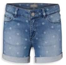 DL Premium Denim Little Girl's& Girl's Piper Polka Dot Cuffed Denim Shorts