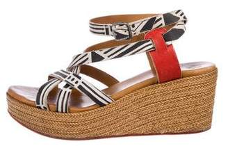 Coclico Leather Ankle Strap Wedges