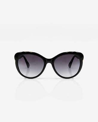 Le Château Floral Design Cat Eye Sunglasses