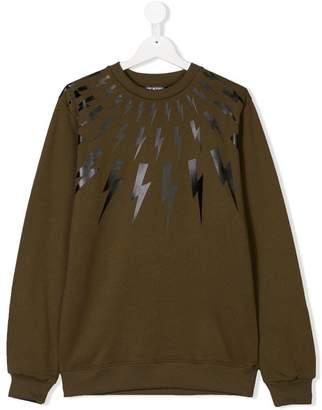 Lightning Bolt Neil Barrett Kids TEEN sweatshirt