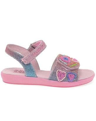 Lelli Kelly Kids Rainbow Hearts Girls Sandals